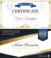 Klassische elegante Zertifikats-Sammlung