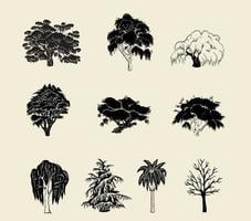 Baum Silhouette Vektor Pack