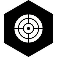 Ziel-Icon-Design vektor
