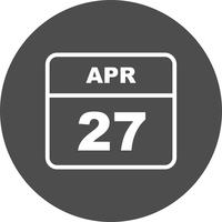 27 april Datum på en enkel dagskalender
