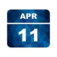 11 april Datum på en enkel dagskalender