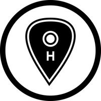 sjukhus plats ikon design