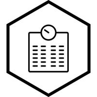 Gewichtungsmaschine Icon Design
