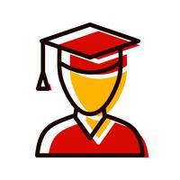 manlig student ikon design
