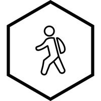 Zu Fuß zur Schule Icon Design