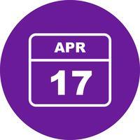 Datum des 17. Aprils an einem Tageskalender