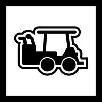 golfbil ikon design