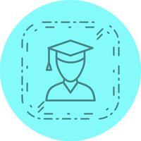 Männliche Student Icon Design