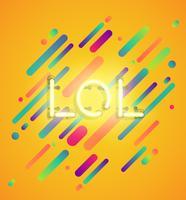 Neonwort auf buntem Hintergrund, Vektorillustration
