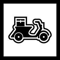 Leverans Motorcykel Icon Design