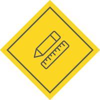 Pencil & Linjal Ikon Design