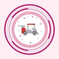 Golf Cart Icon Design