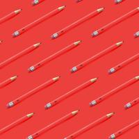 Hoher ausführlicher bunter Hintergrund mit Bleistiften, Vektorillustration vektor