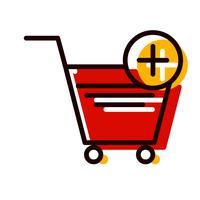 Zum Warenkorb hinzufügen Icon Design vektor