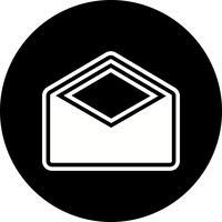 Umschlag-Icon-Design vektor