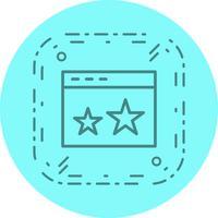 Starred Icon Design vektor