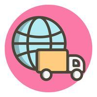Globales Lieferungs-Ikonendesign