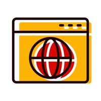 Browser-Icon-Design vektor