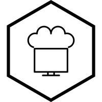 Verbunden mit Cloud Icon Design
