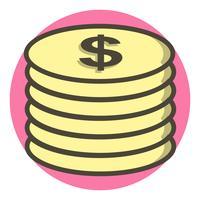 Münzen-Icon-Design