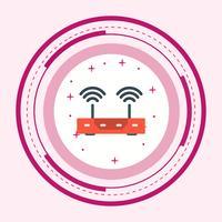 Router Icon Design vektor