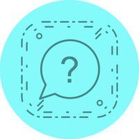 fråga ikon design
