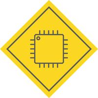 processor ikon design vektor