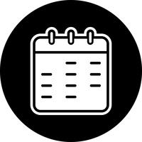 Kalender-Icon-Design vektor