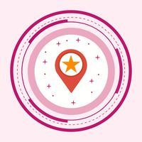 Markiertes Standort-Icon-Design