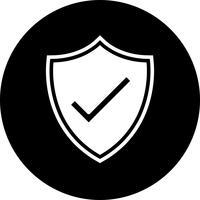 Schild-Icon-Design vektor