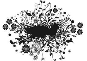 Bristande blommig banner vektor pack två