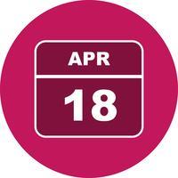 Datum des 18. Aprils in einem Tageskalender