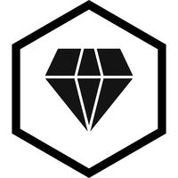 Diamant-Icon-Design vektor