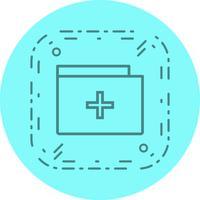 medizinische Ordner-Icon-Design