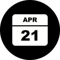 Datum des 21. April für einen Tagkalender
