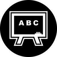 svarta tavla ikon design