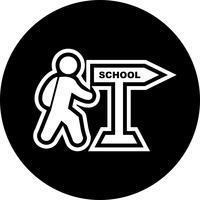 Gå till skolan Icon Design