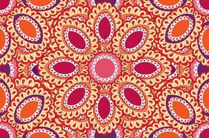 Abstraktes orientalisches nahtloses mit Blumenmuster. vektor