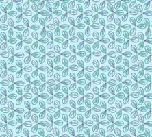 Abstraktes orientalisches Blumenfliesenmuster. Geometrische Verzierung