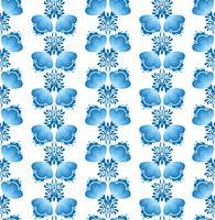Wirbeln Sie nahtloses Blumenmuster. Dekorativer Hintergrund im russischen Stil.