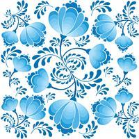 Wirbeln Sie nahtloses Blumenmuster. Dekorativer Hintergrund im russischen Stil