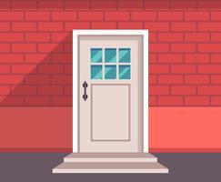 Stängd dörr vektor