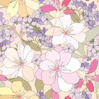 Blommigt sömlöst mönster. Blomma bakgrund