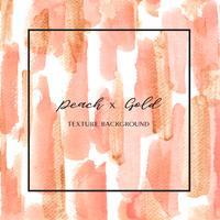 Korallfärg Trendig havsskal akvarell och guld gouache konsistens bakgrund Skriv ut tapet vektor illustration design för banner, affisch, tidskrift