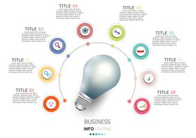 Infographics vektor design och marknadsföring ikoner