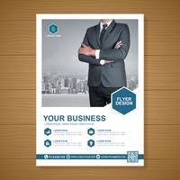 Schablone der Geschäftsabdeckung a4 und flache Ikone für einen Bericht und eine Broschüre entwerfen, Flieger, Fahne, Broschürendekoration für den Druck und Darstellung vector Illustration