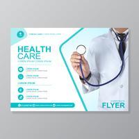 Schablonendesign der Gesundheitsfürsorgeabdeckung a4 und flache Ikonen für einen Bericht und eine medizinische Broschüre entwerfen, Flieger, Broschürendekoration für den Druck und Darstellung vector Illustration