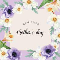 Vallmo, lilja och magnolia blommande vattenfärg bröllopskort blommiga aquarelle, inbjudan spara datumet, bröllop fira äktenskap, tack kort design illustration