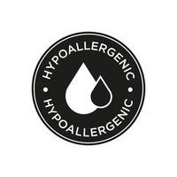 Hypoallergenes Symbol vektor
