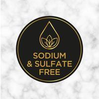 Natrium und Sulfat Kostenloses Symbol für Etiketten für Shampoo, Maske, Conditioner und andere Haarpflegemittel. vektor